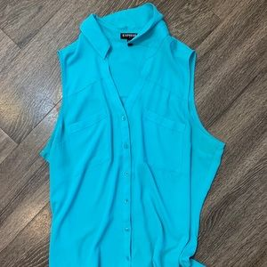 TEAL EXPRESS SLEEVELESS PORTOFINO SHIRT